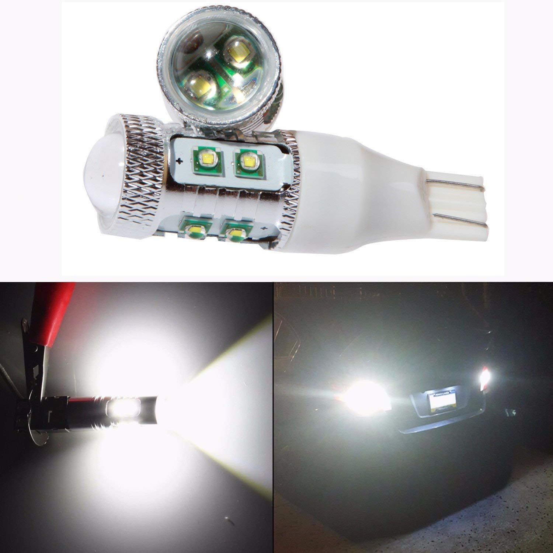 White T15 921 912 T10 T15 W16W 10-SMD CREE 3020 Car Replacement Lights Backup Reverse Parking Light Xenon White 6000K KaTur 4pcs Extrmely Bright 1000LM T15 LED Parking Light Bulb