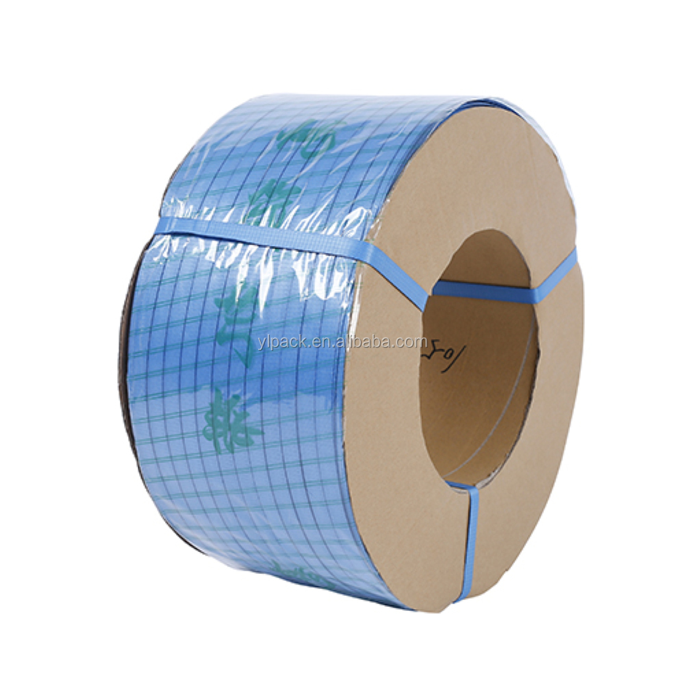 Hot selling blue PP polyester strapping packing belt roll