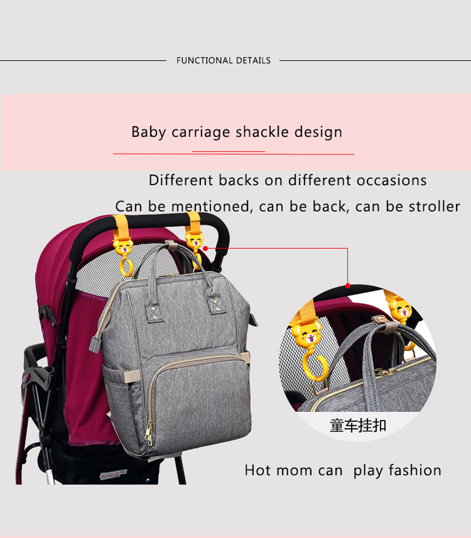 Happyflute Best Quality Large Capacity Baby Diaper Wet Bag Multi-functional Mother Bag