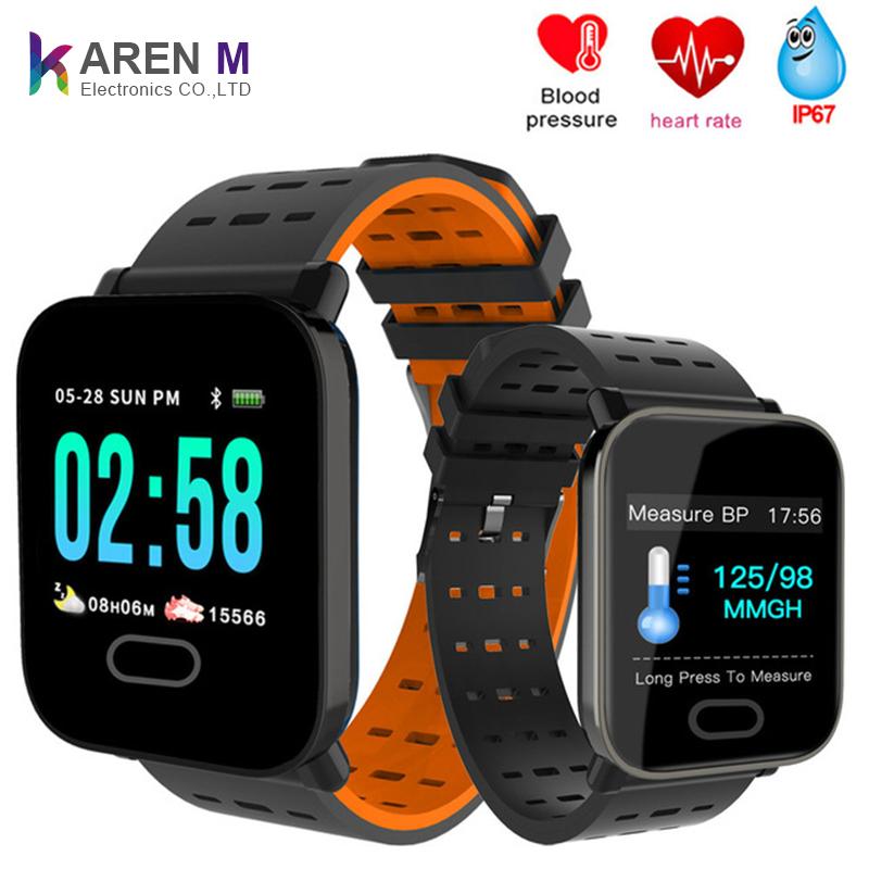 Mới nhất Karen M Giá Rẻ thông minh đồng hồ biểu tượng tùy chỉnh smartwatch với huyết áp và nhịp tim