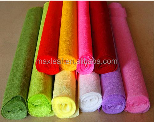 50*100cm mixed colors crepe <strong>paper</strong> wax <strong>paper</strong> for flower packaging artwork <strong>paper</strong>