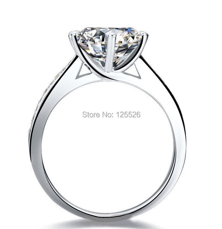 ויקטוריה והיק האירוסין לבן טופז Diamonique זהב 14KT מלא טבעת טבעת מתנה משלוח חינם
