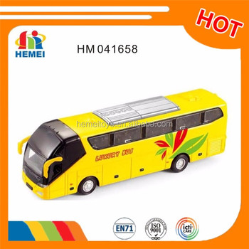 Diecast yellow school bus toy for Kids