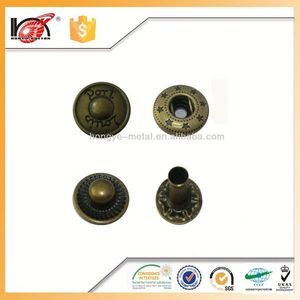 Custom fashion metal button,magnetic bull horn buttons