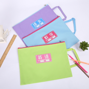 Custom travel document holder zipper file bag slider zipper bag