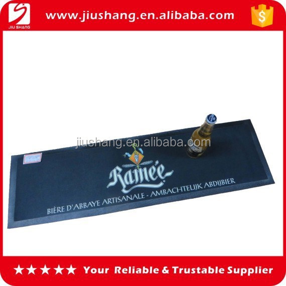 Custom large size nitrile rubber bar drip rail mat for sale