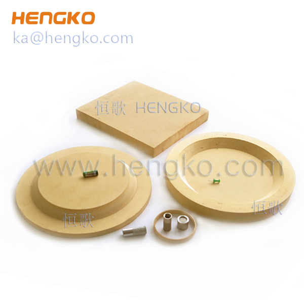 0.5~300 microns sintered porous bronze filter plate