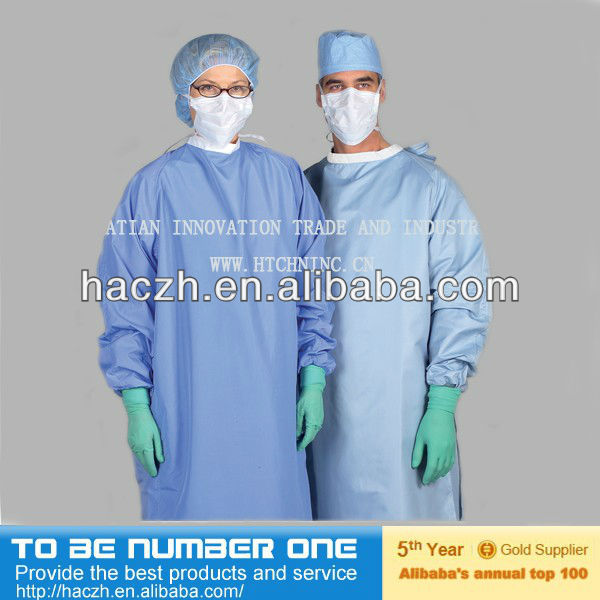 Sterilized Sms Surgical Gown,Polyethylene Surgical Gown,Non Woven ...