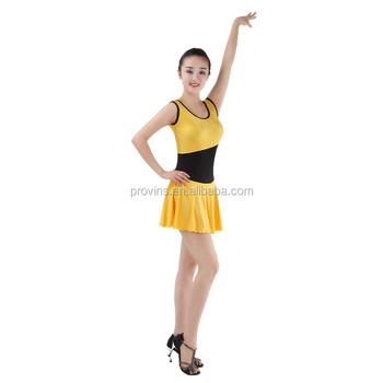 707a0e256 Hot Sale Adult Two-tone Gymnastics Dance Dress Girls Tank Skirted ...
