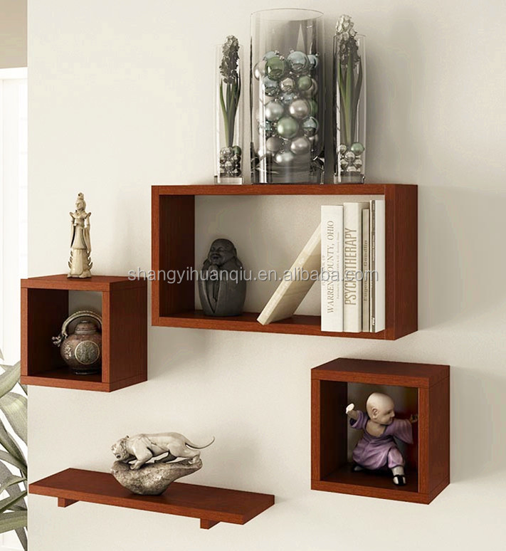 wooden decoration shelf wall units designs in living room