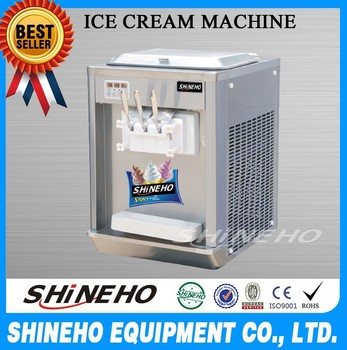 S013 CE Heavy Duty Table Top Mobile Spaghetti Swirl Ice Cream Machine