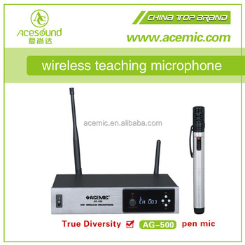 wholesale uhf fm professional wireless microphone system for teachers with pendant mic ag 500. Black Bedroom Furniture Sets. Home Design Ideas