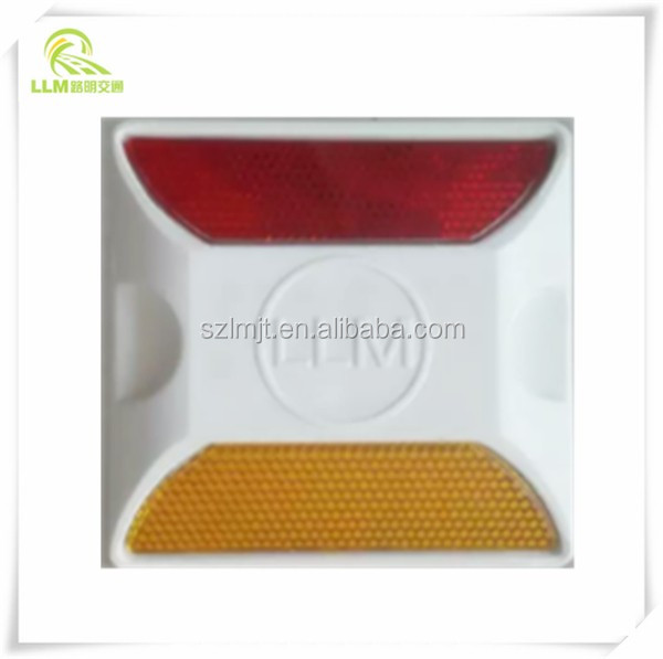 Two ways Roadway Safety Cat Eyes  Plastic Reflectors Driveway Road Stud with Lens