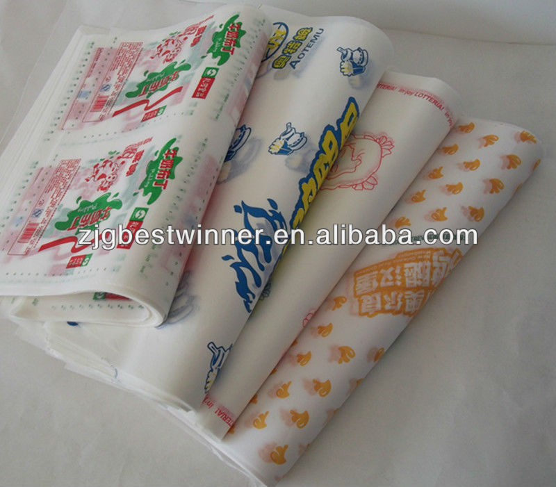 printed colourful wax paper