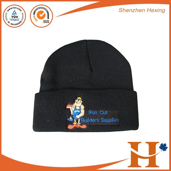 2017 Hot Wholesale Women Acrylic Knit Hat Custom Embroidered ...