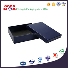 Custom made wholesale colorized rigid gift box for wallet / leather belt / arm bag / towel