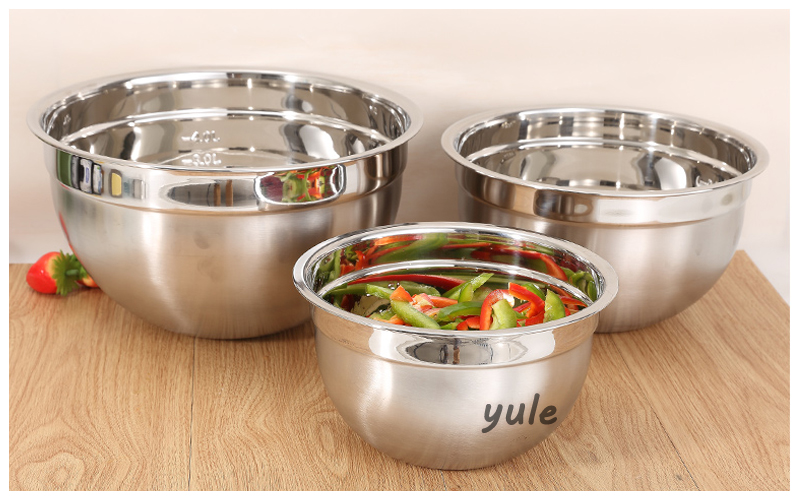 Kitchenware cheap nesting set of 5 stainless steel mixing bowls