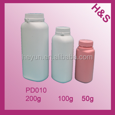 200g 100g 50g Empty plastic powder bottle/baby bottle