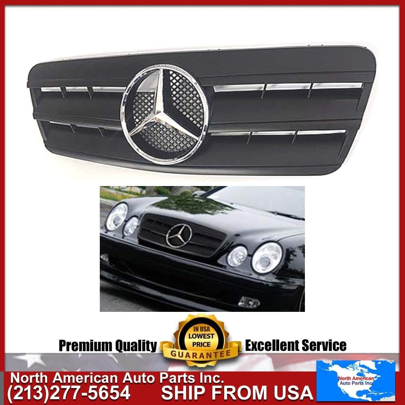 Cheap Mercedes Benz Amg Clk Find Deals On Ml350 2005 Parts Get Quotations 98 02 W208 Matte Black Grille With Chrome Star Clk320 Clk430 Clk55