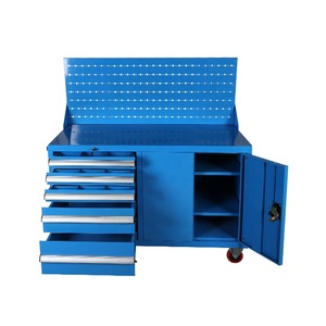 Heavy duty Movable customized steel garage storage workbench / Tools cabinet metal 5 drawer Tool trolly werkzeugschrank