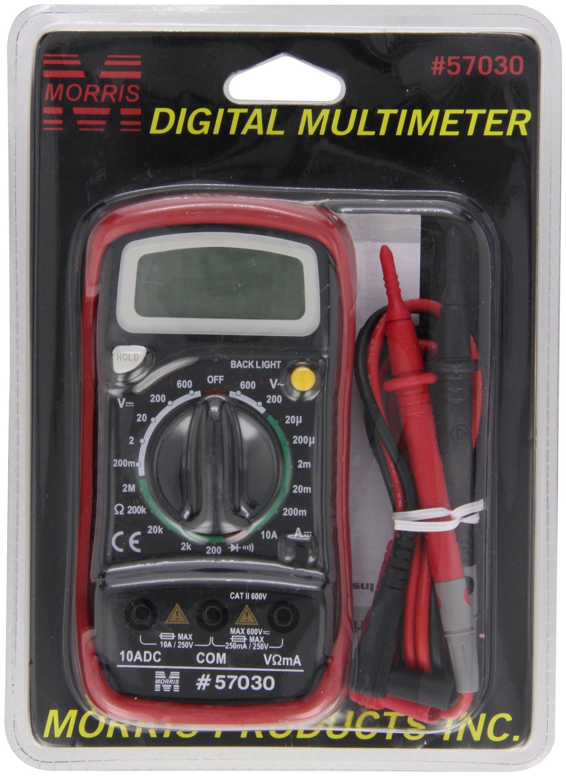 Morris Products 57030 Digital Multimeter with Rubber Holster