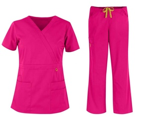 Women Medical Mock Wrap Scrubs Uniform Factory