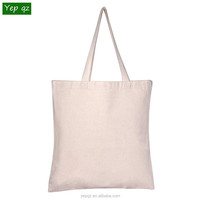 Factory price cheap popular personalized eco friendly recycled natural color plain blank promotion cotton tote bags wholesale
