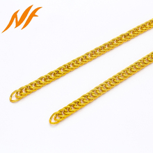 light gold aluminum twisted cuban links curb chains men