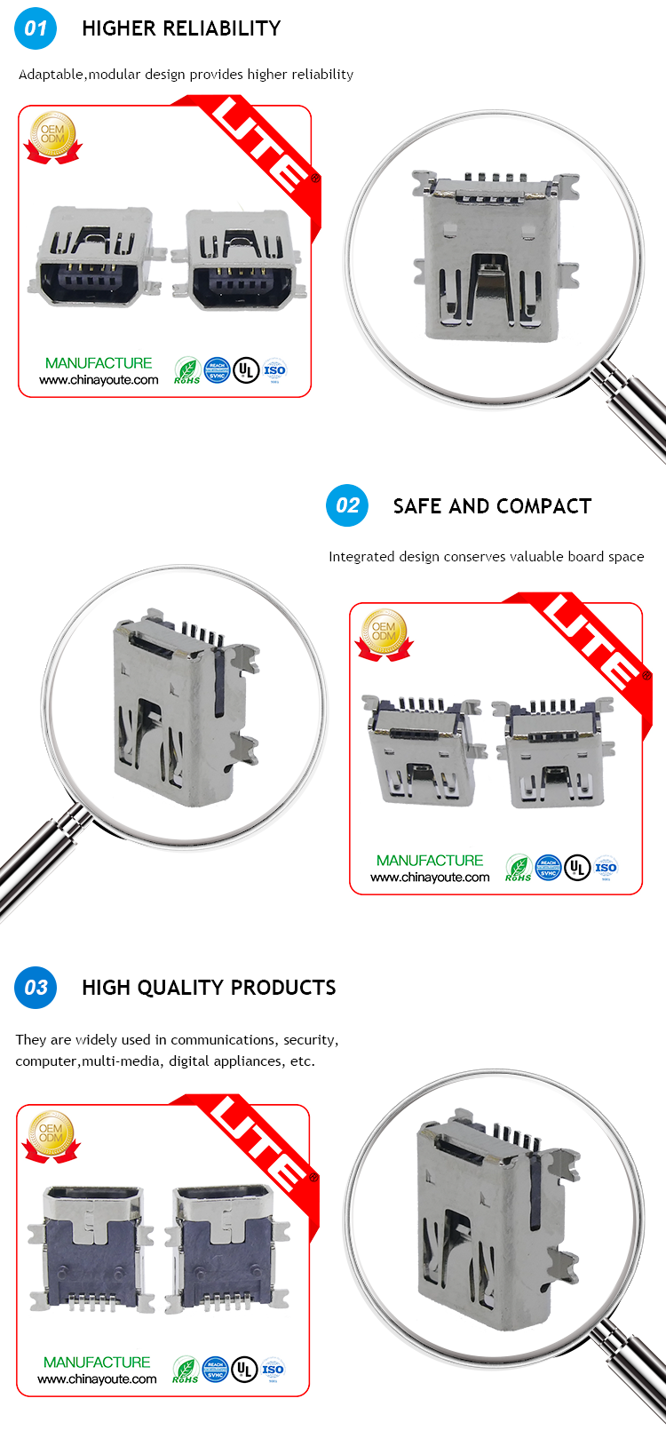 Mini Usb Connector With A/b Male Port Plug To Color Code ... Usb Color Coded Wires on shielded wire, clear wire, metal wire, plastic wire, heavy duty wire, color coding wire, blue wire, white wire,