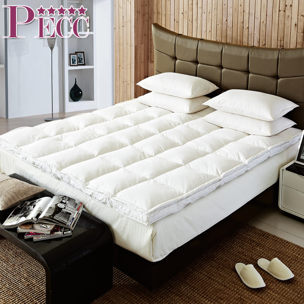 100% Cotton Luxurious Cheap Soft Feather Hotel Quilted Mattress Topper