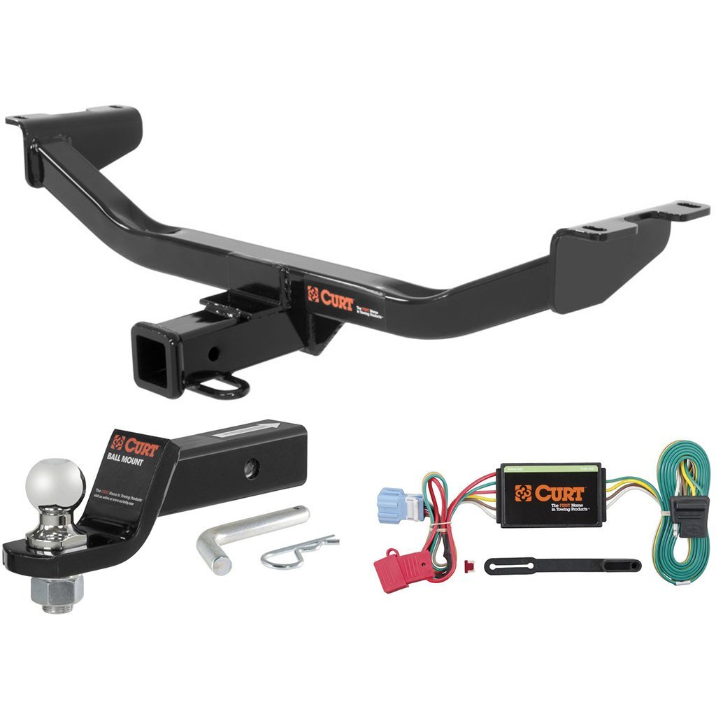 "CURT Class 3 Trailer Hitch Tow Package with 1-7/8"" Ball for 2013-2016 Acura RDX"