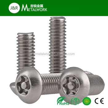 A2 A2-70 A2-80 Stainless Steel Torx Button Head Security Machine Screw