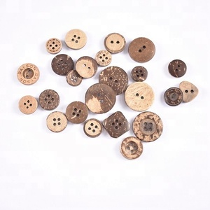 Factory high quality natural DIY coconut button custom clothing shirt buttons