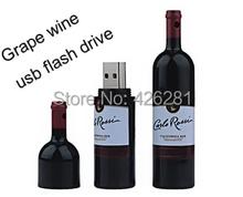 Hot sale! Grape wine bottle Metal Usb flash drive Pen drive Usb memory stick usb disk Custom logo 1GB 2GB 4GB 8GB 16GB 32GB