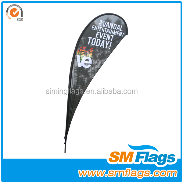 Vertical wind beach advertising flags pvc flex banner making machine