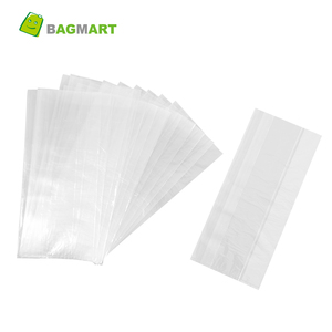 YTBagmart Custom Size Food Grade Clear Plastic Side Gusset Flat Poly Bag