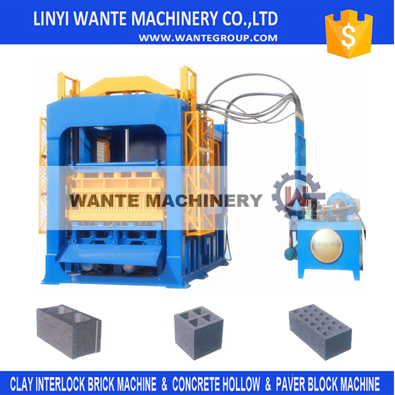 linyi qt10-15 japan used concrete block machine Interlocking Curb Stone Machine For Sale With Technical Support