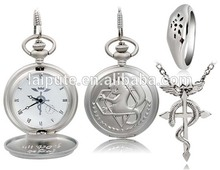 Dial Vintage Anime Full metal Design Pocket Watch Necklace Hanging Watch