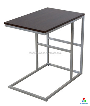 Movable Computer Side Table With Metal Legs Whole