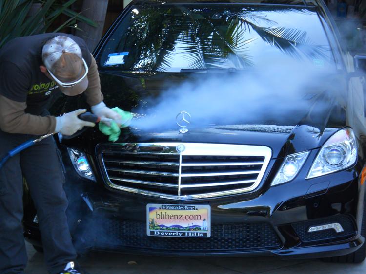Ce New 25 Bar 2 Pistol Mobile Diesel Vapor Steam Car Wash Machine