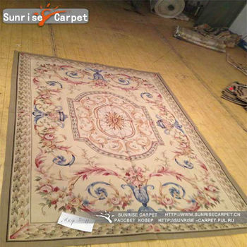 Chinese Hand Woven India Wool Aubusson Rugs