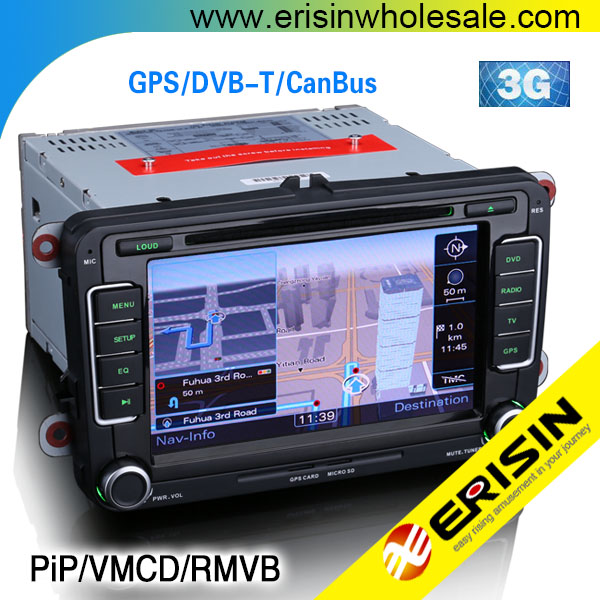 "Erisin ES7698V 7"" Car DVD for SAT GOLF 5 6 PASSAT CC New Bettle 2 2010"