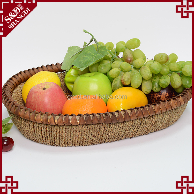 S&D New Kitchen Vegetable Storage Baskets Folding Fruit Silicone oval wedding gift fruit basket decoration