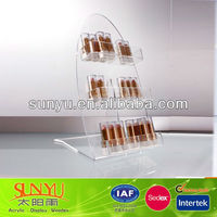 L shape DIY clear acrylic nail polish rack display