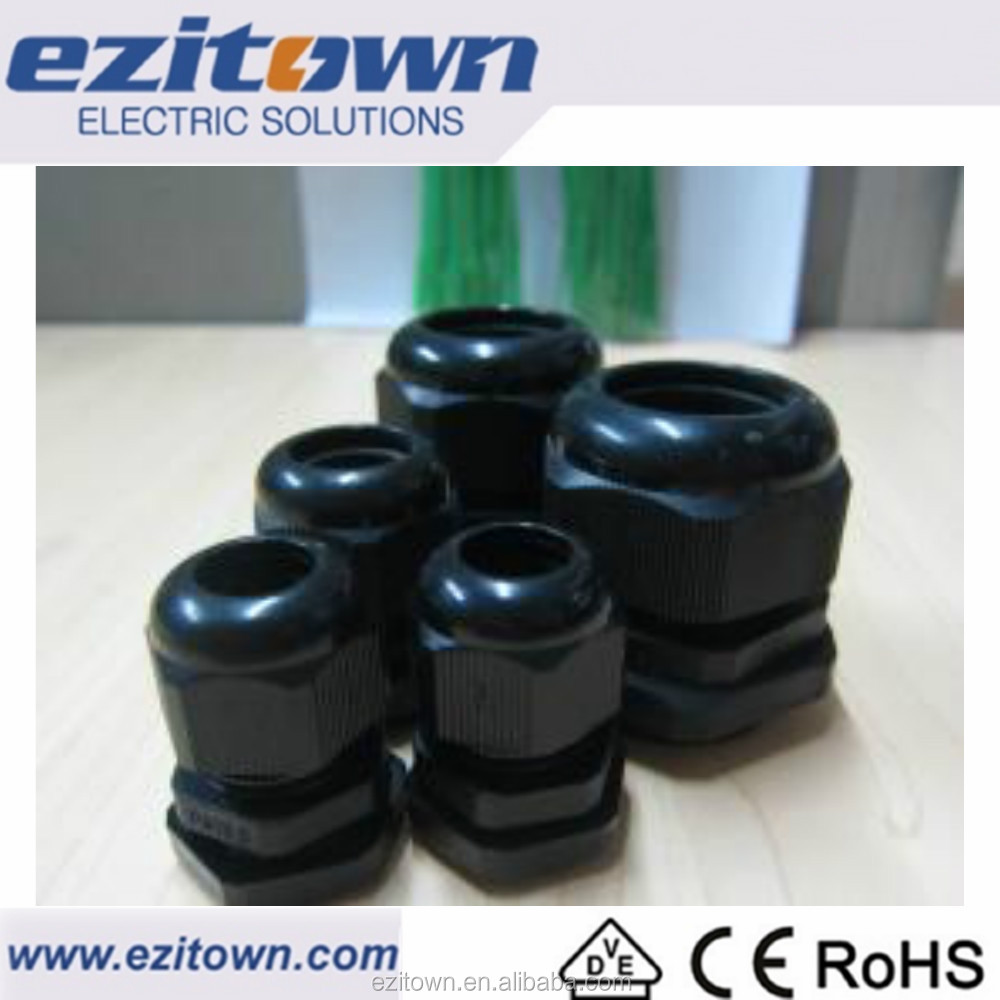 Ezitown Safe And Reliable Quality IP68 Series Plastic Cable Glands Nylon PG PVC Customized Size Armoured IP68 Cable Gland