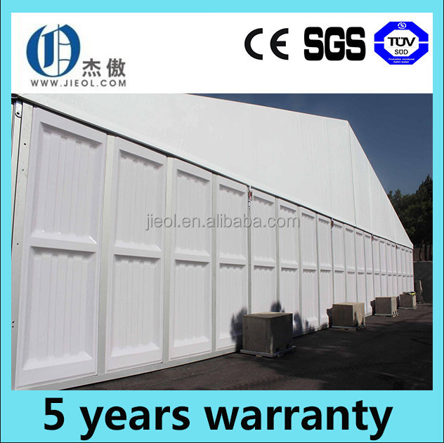 Aluminum frame reinforced side wall storage tent for sale