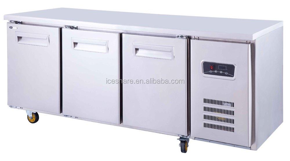 Kühlschrank Edelstahl : Türer edelstahl kommerziellen unterbau kühlschrank chiller
