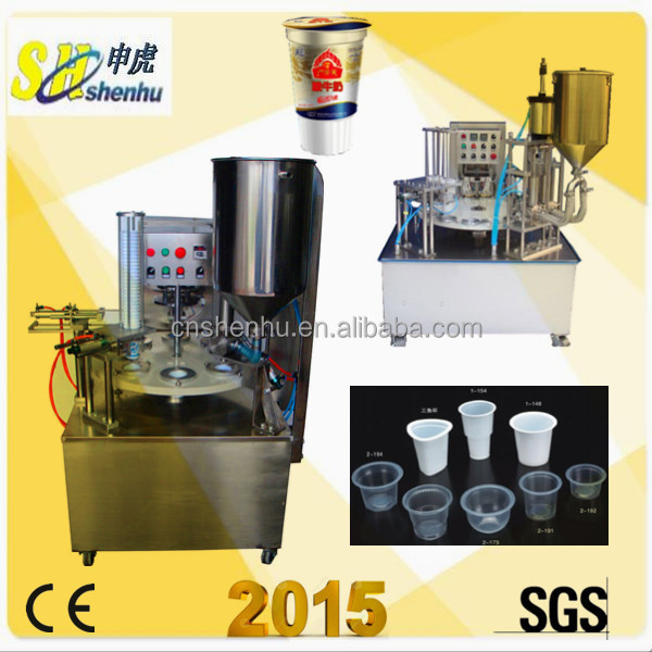 Cream Greek yoghourt mineral water cup filling machine