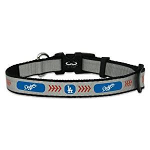 MLB Los Angeles Dodgers Baseball Pet Collar, Reflective