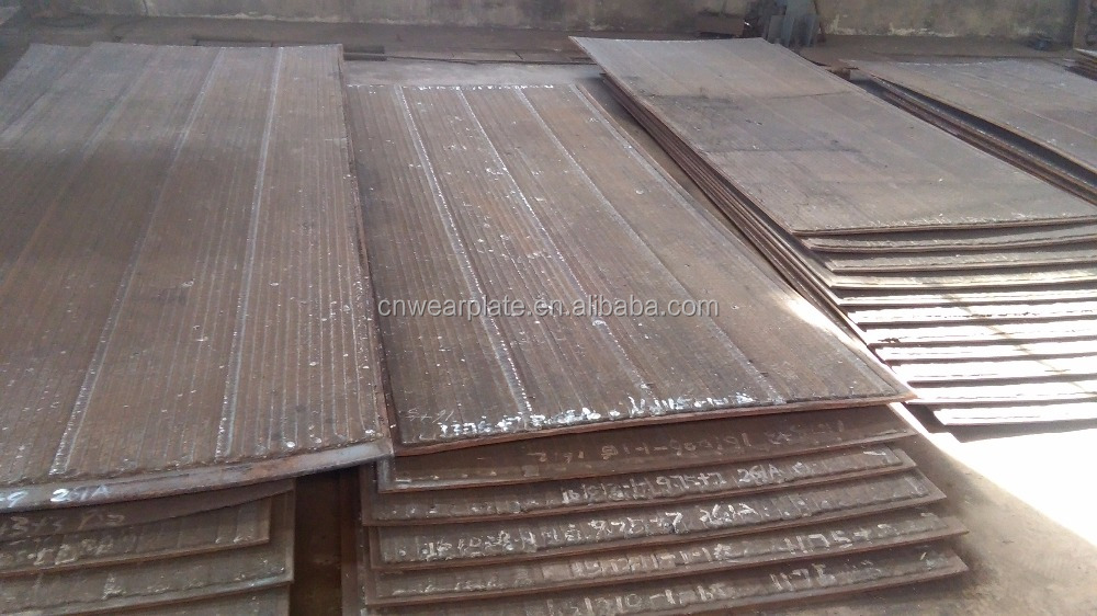 China produce high hardness arc welding corrosion resistant plate customized wear clad plate used on front end loaders or mining